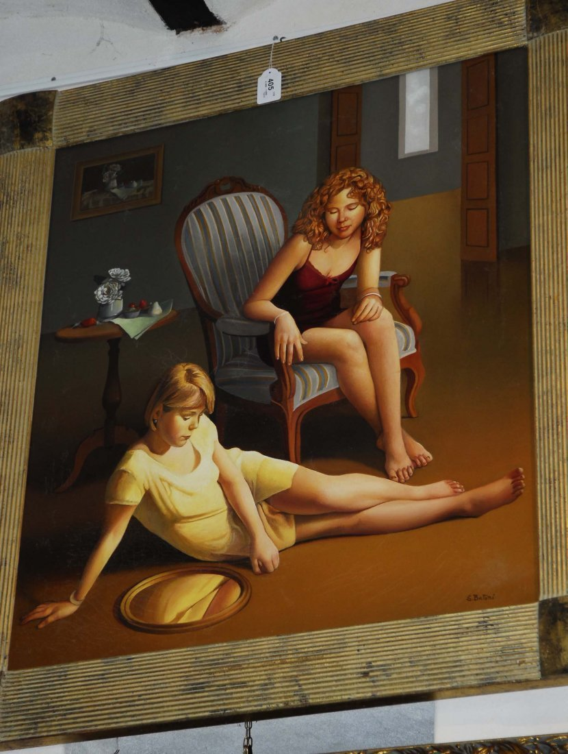 Sandra Batoni (1953) Lo specchio tondo