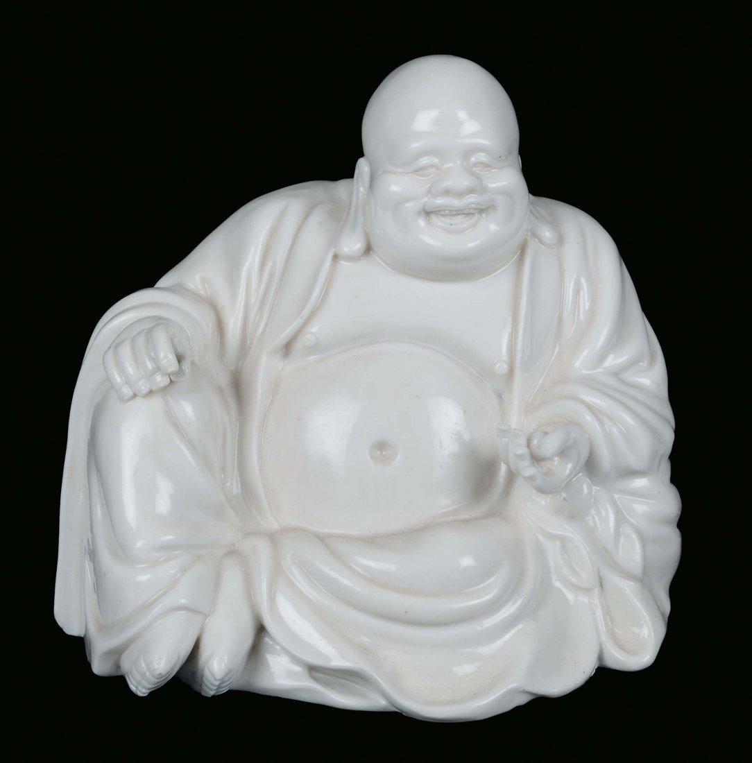 A Blanc de Chine porcelain sitting Dignitary, China, De
