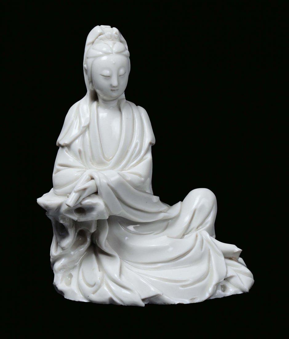 A Blanc de Chine porcelain Guanyin, China, Dehua, begin