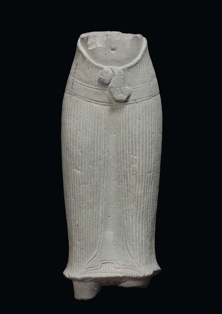 A fragment of a stone sculpture, Khmer, Indochina, 11th