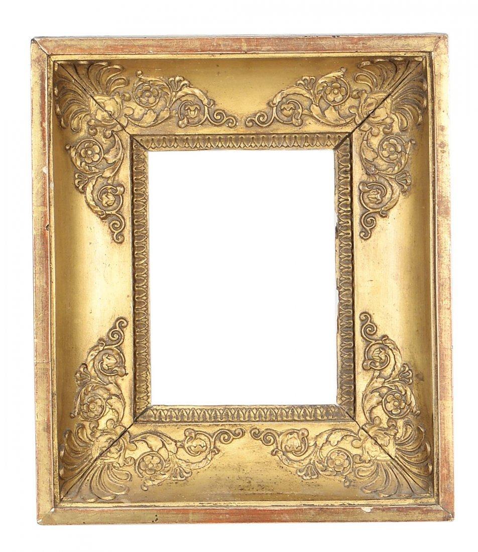 Piccola cornice Impero dorata, XIX secolo