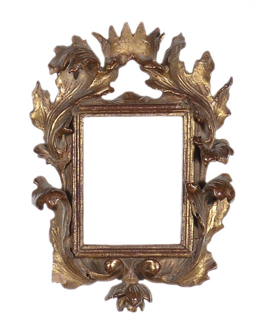 Piccola cornice intagliata e dorata, XVIII secolo
