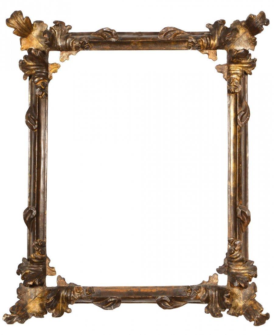 Cornice intagliata e dorata a mecca, XVIII secolo