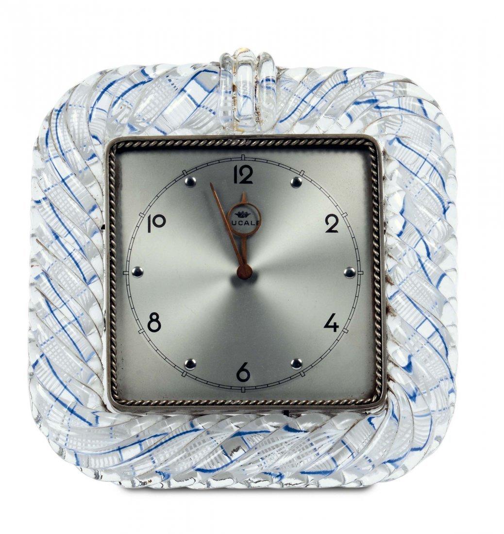 Venini - Murano  Cornice con orologio