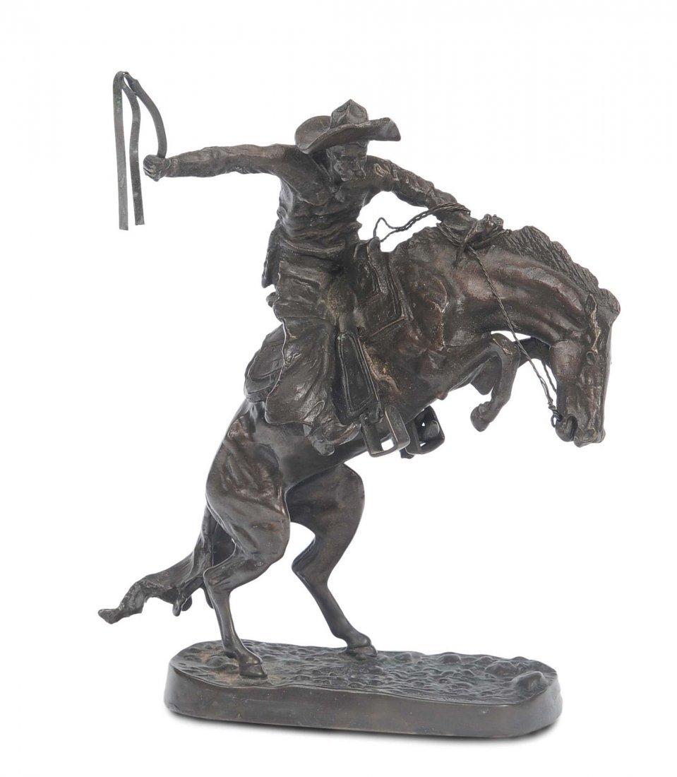 Frederic Remington (1861-1909) Cow-boy a cavallo