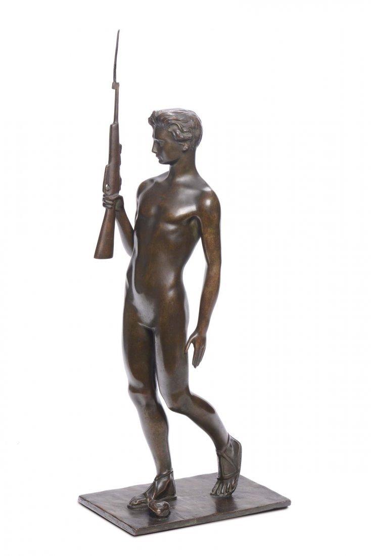 Alfeo Bedeschi (1885-1970) Giovanetto con fucile