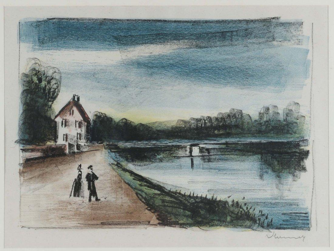 Maurice De Vlaminck (1876-1958) Pont sur lÂ'Oise a Mery