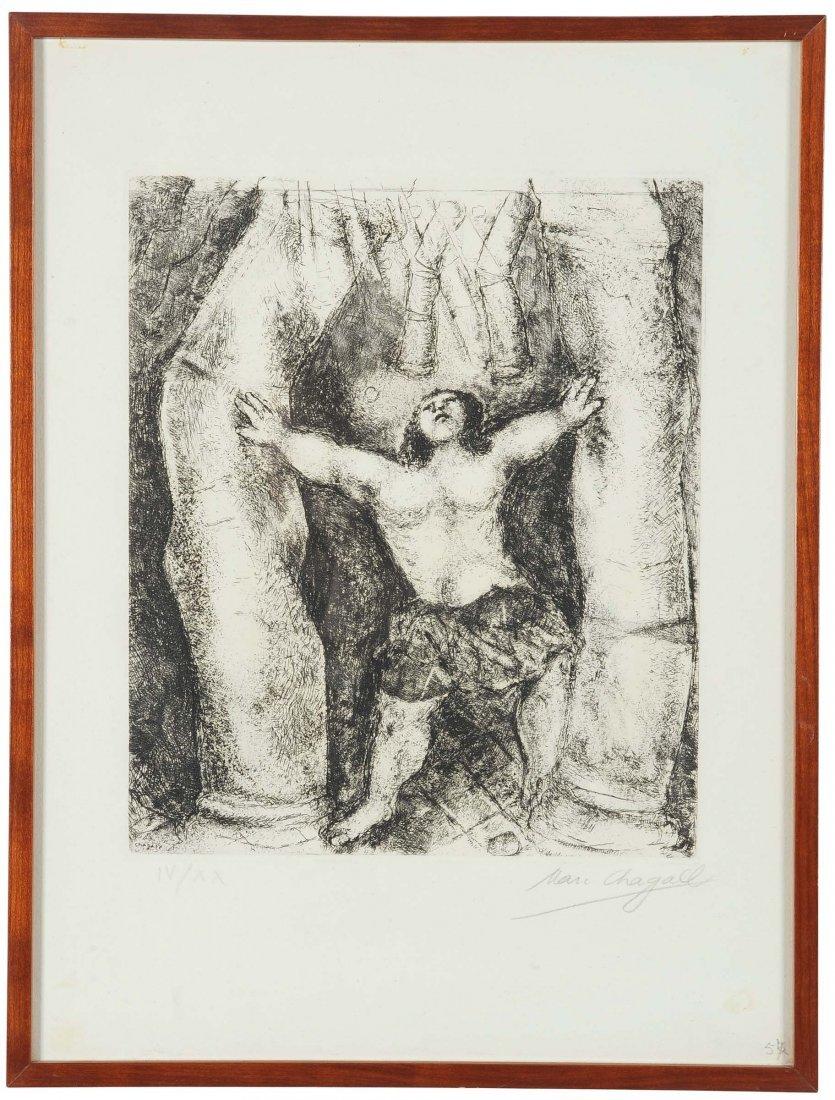 Marc Chagall (1887-1985) Sanson renverse les colonnes