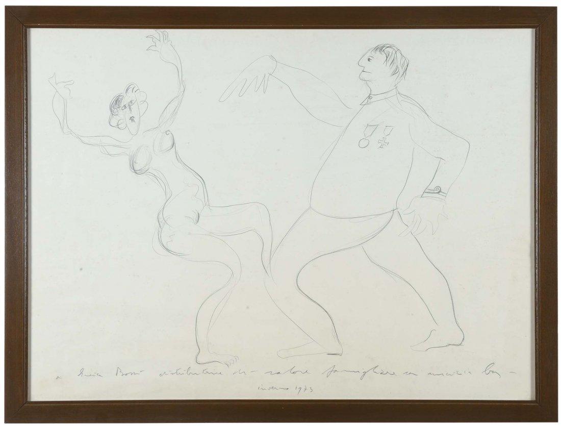 Enrico Baj (1924-2003) Due figure
