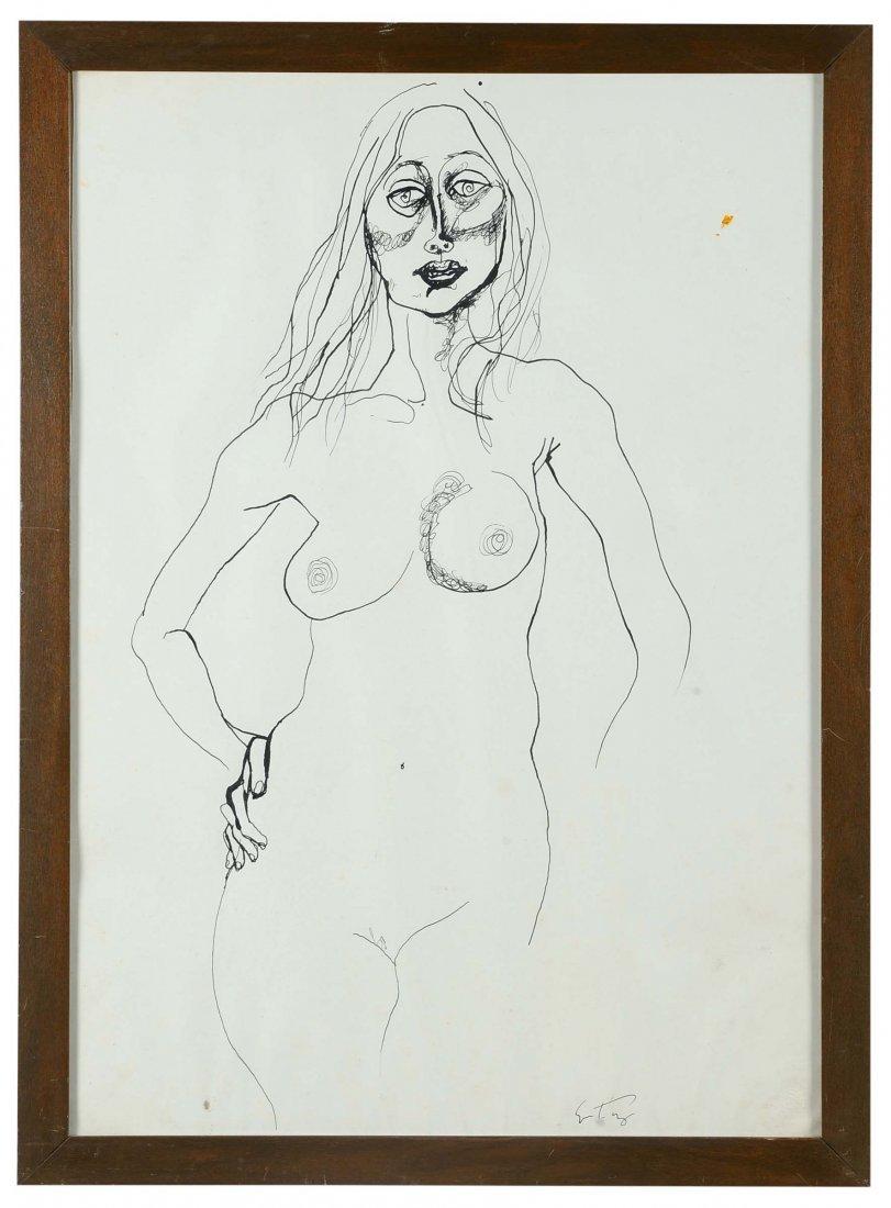 Renato Guttuso (1911-1987) Nudo di donna