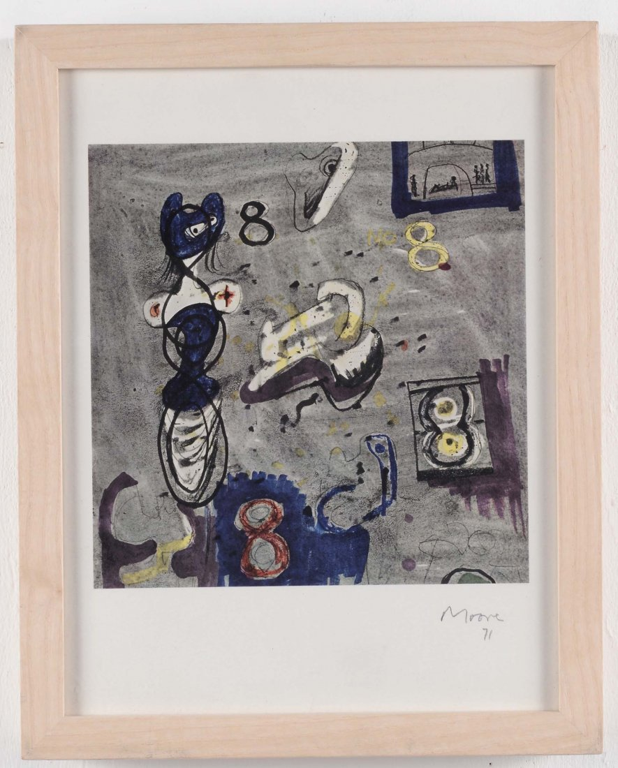 Henry Moore (1898-1986) Senza titolo, 1971