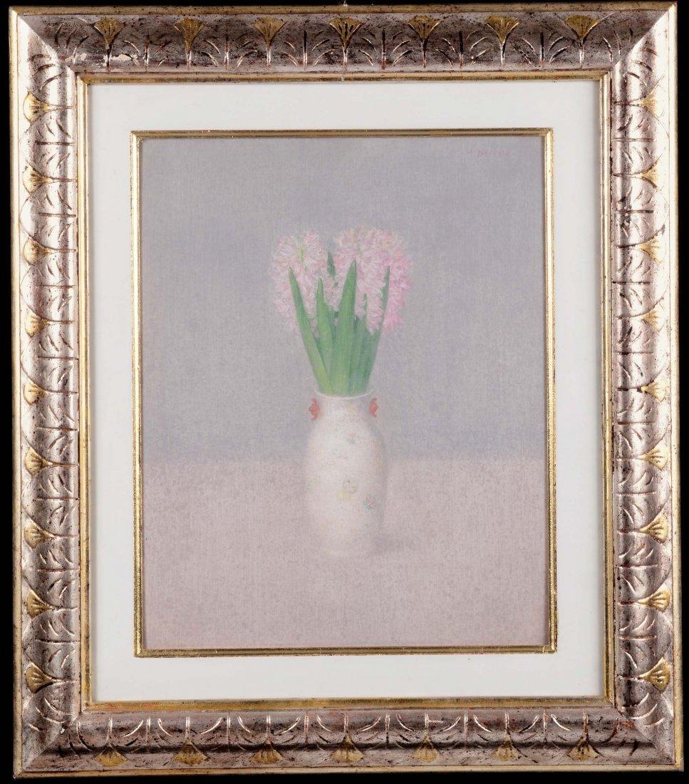 Antonio Bueno (1918-1984) Vaso con giacinti, 1966