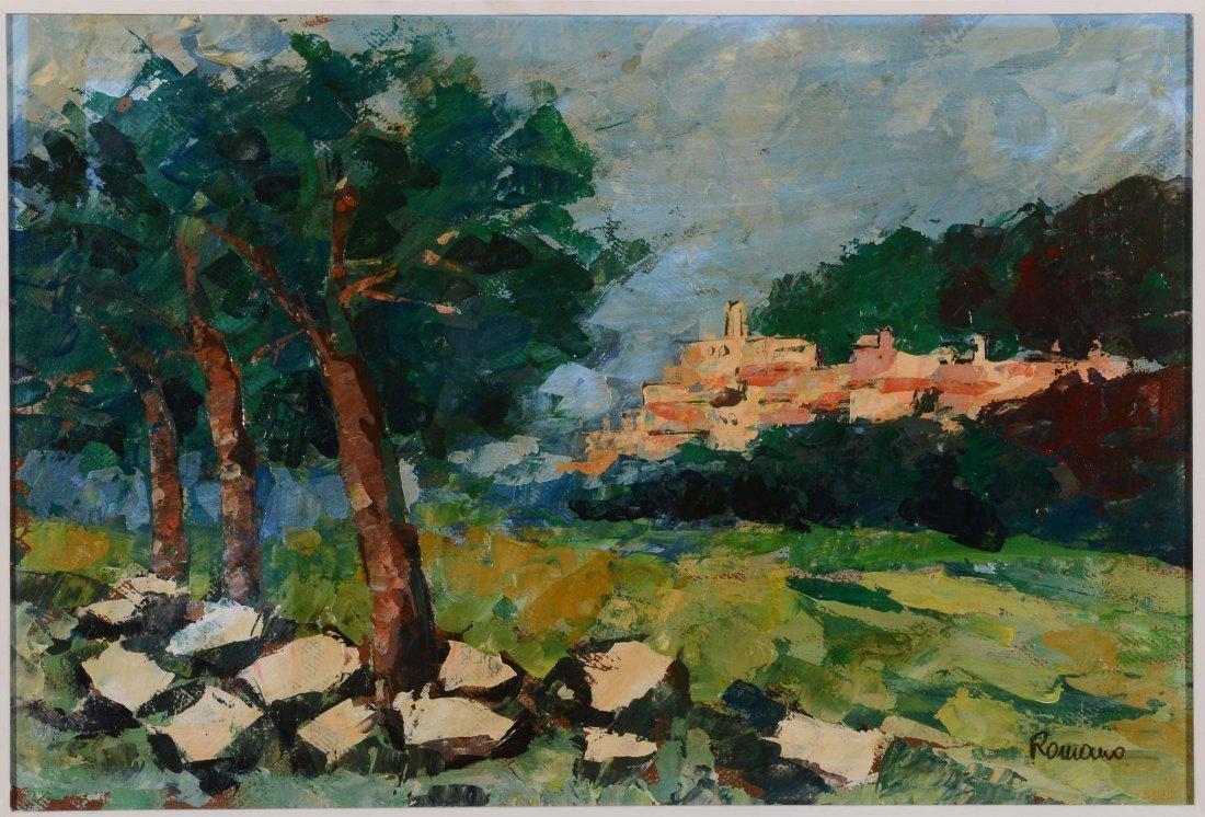Francesco Romano (1880-1924) Paese con oliveta