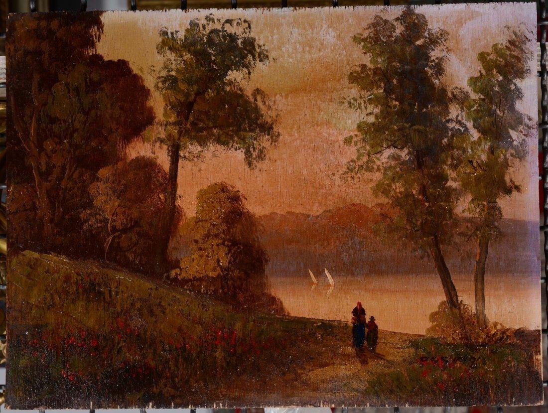 Alfredo Oggioni Paesaggio lacustre