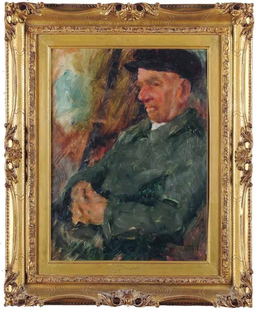 Carmelo Floris (1891-1960) Uomo seduto