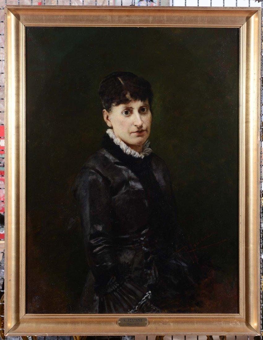 Roberto Fontana (Milano 1844-1907), ambito di Ritratto