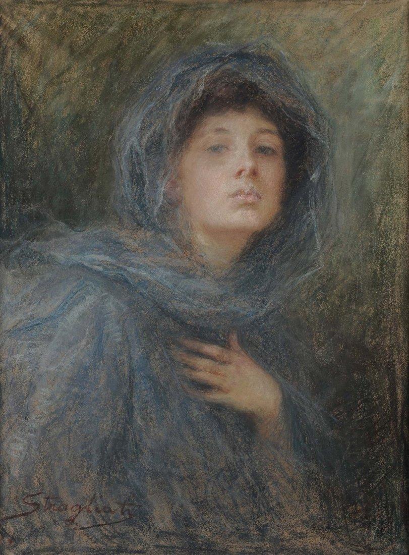 Carlo Stragliati (1868-1925) Velo grigio