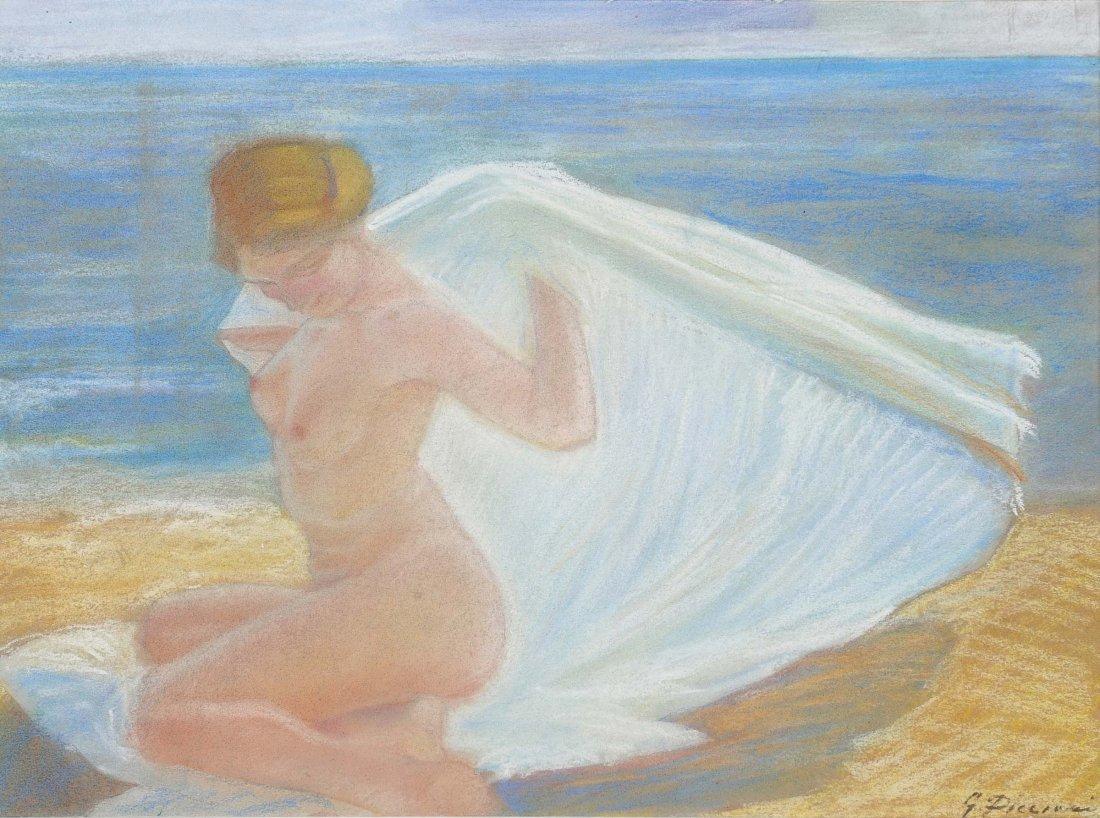 Gino Piccioni (1873-1941) Nudo sulla spiaggia