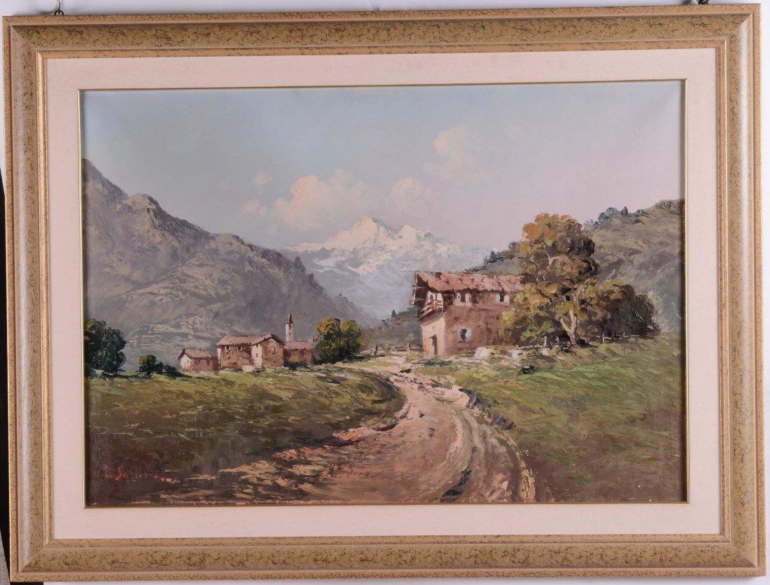 Anonimo del XX secolo Paesaggio montano