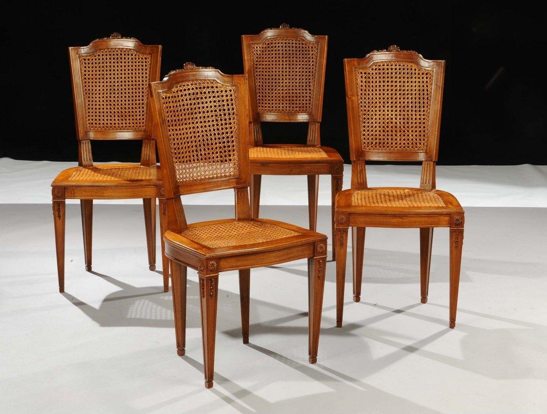 Quattro sedie Luigi XVI, fine XVIII secolo