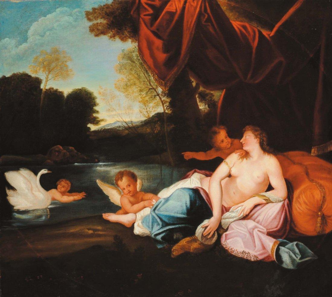 Scuola Italiana del XIX secolo 'Venere e Cupido'