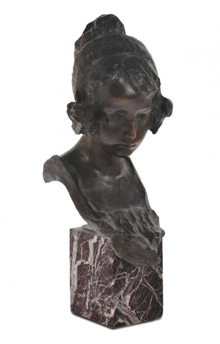 Edoardo Rubino (1871-1954) 'Testa di fanciulla '