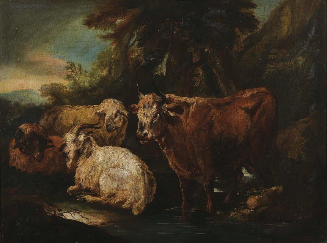 Pittore Anonimo 'Scena pastorale con mucche'