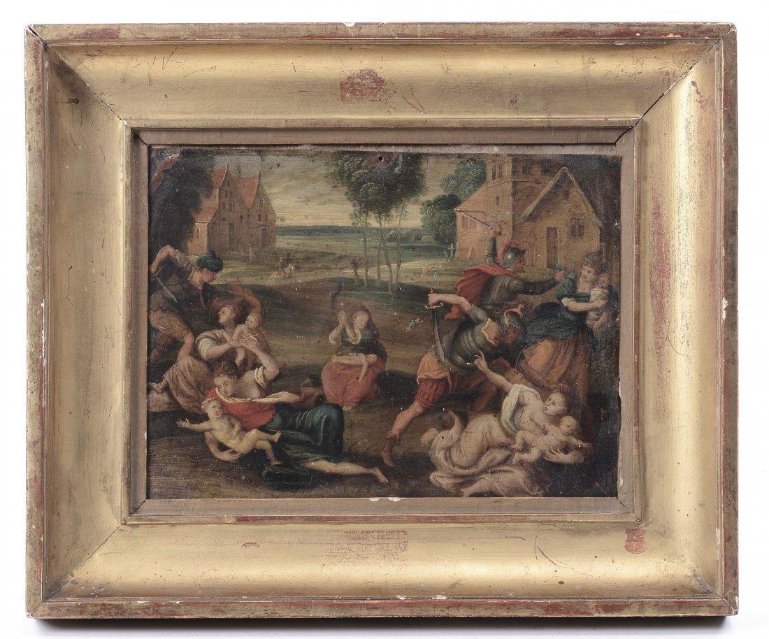 Scuola del XVIII secolo 'La strage degli innocenti'
