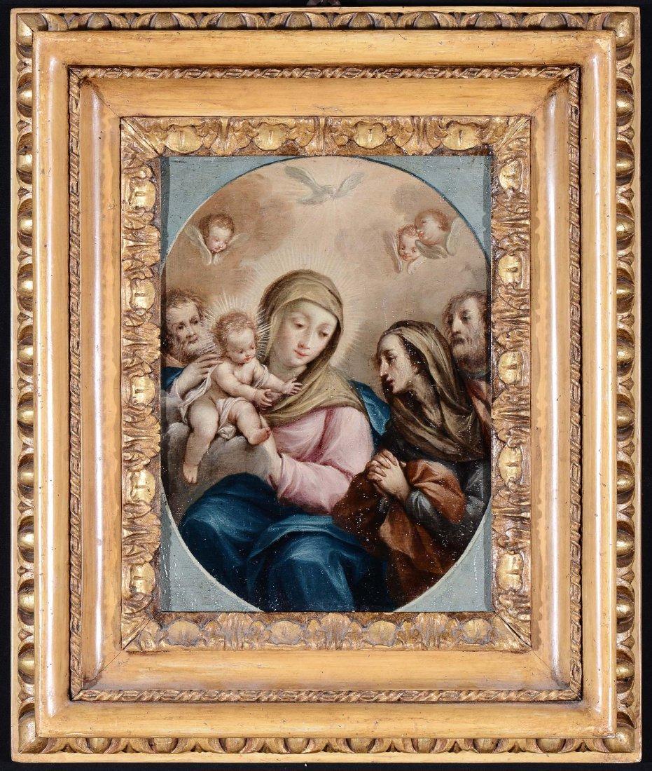 Scuola Napoletana del XVIII secolo 'Madonna con