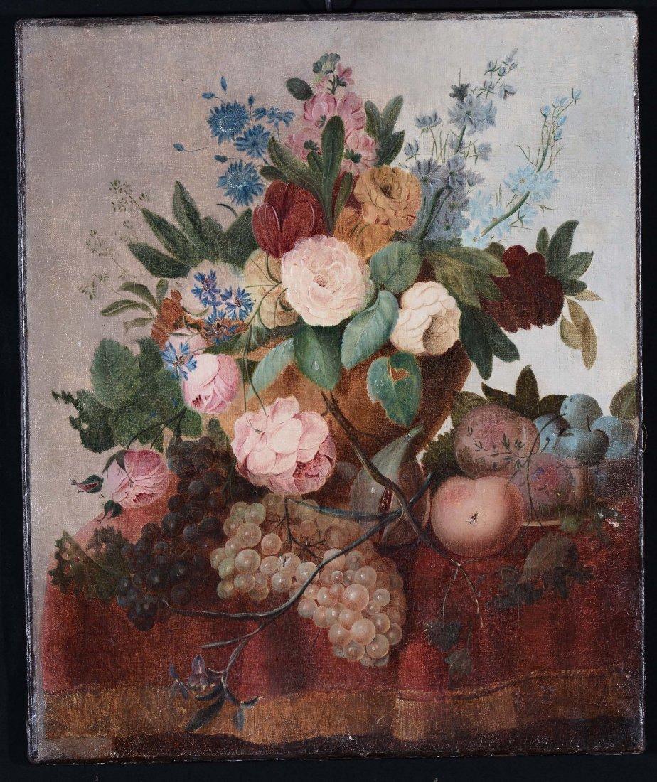 Anonimo del XIX secolo 'Vaso con fiori'