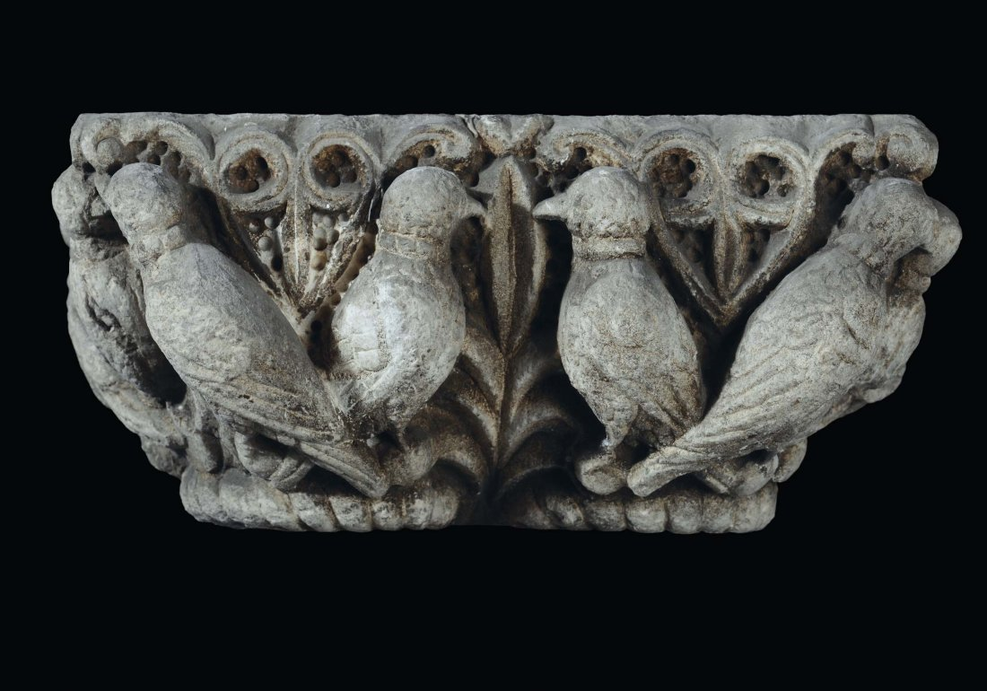 """Southern Italy sculptor, 13th century """"Double capital"""