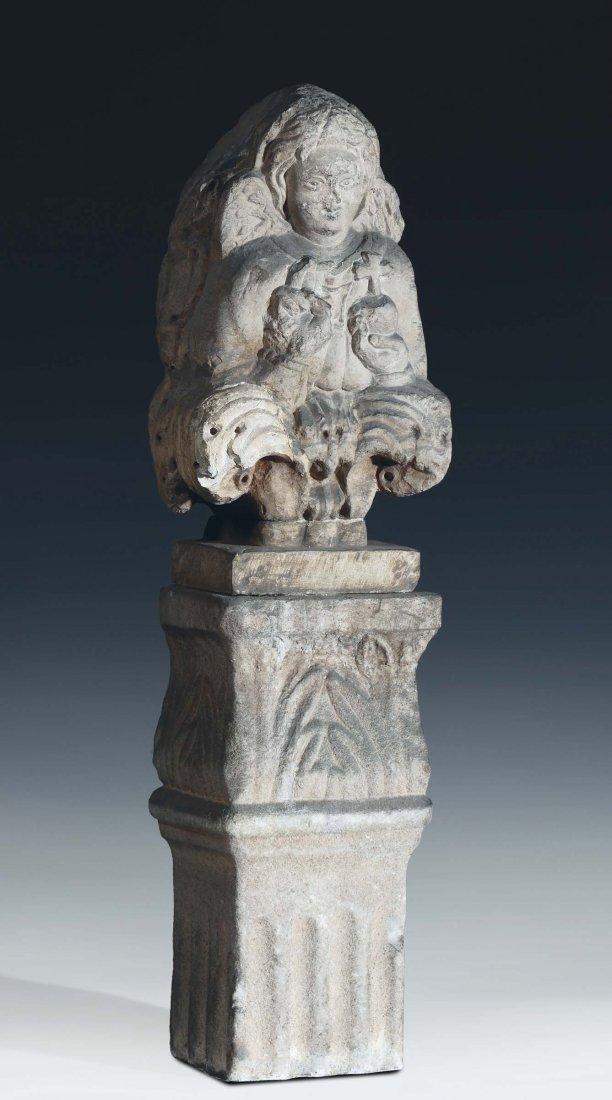 "Venetian sculptor, 14th  century ""Pantocrator angel"""
