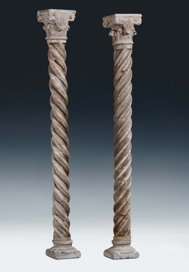 """France or Italy, 14th /15th century """"A pair of columns"""