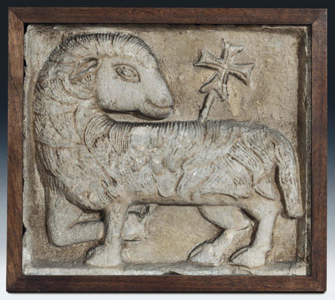 """Italian sculptor, 13th/14th century """"Agnus Dei"""""""