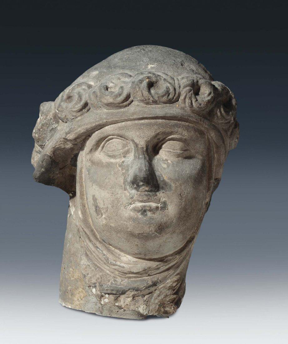 "French or Flemish sculptor, 15th century ""Female head"