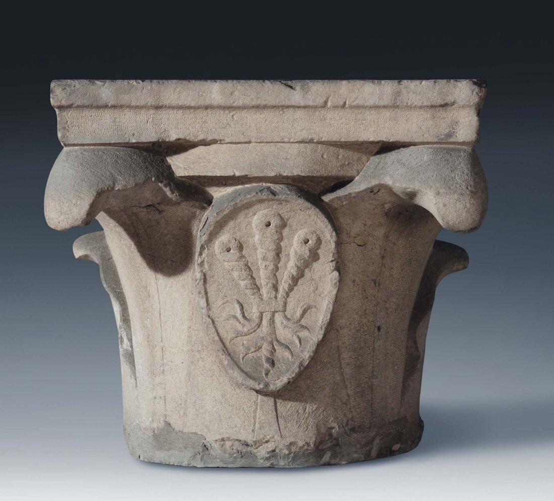"Italian Art, 15th century ""Semi-capital with blazon"""