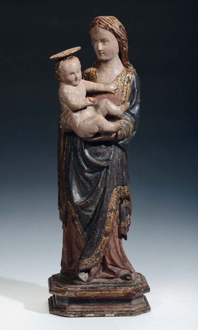 """Sculptor from Veneto, 15th century """"Madonna with Child"""""""