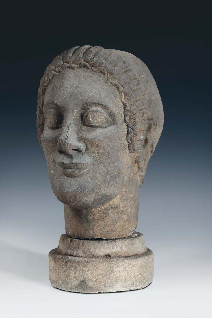 "Sculptor, 20th century ""Kouros' head"""