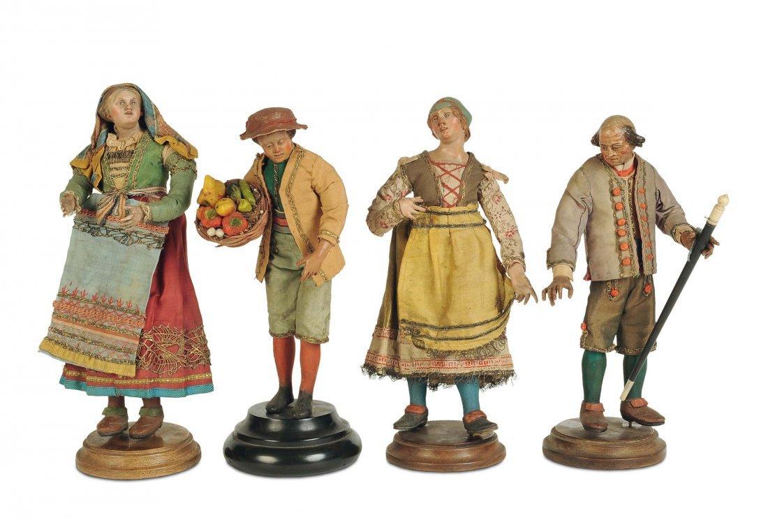 Gruppo di giovani contadini, Napoli, inizi del XIX