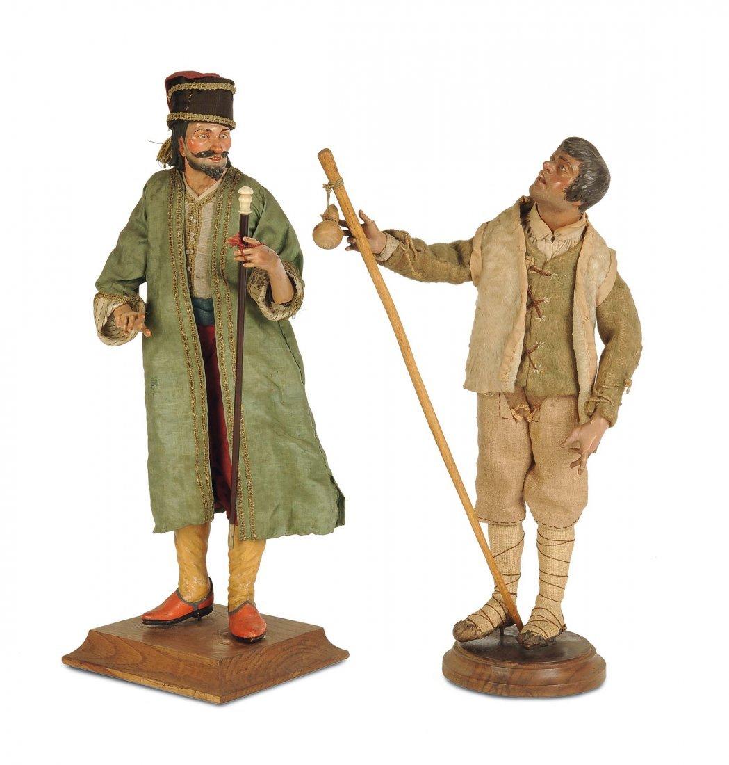 Pastore e Georgiano con bastone, Napoli, XVIII/XIX