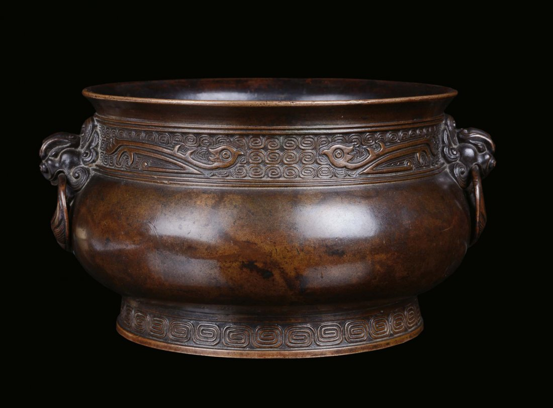 A bronze censer, archaic shape, China, Qing Dynasty,
