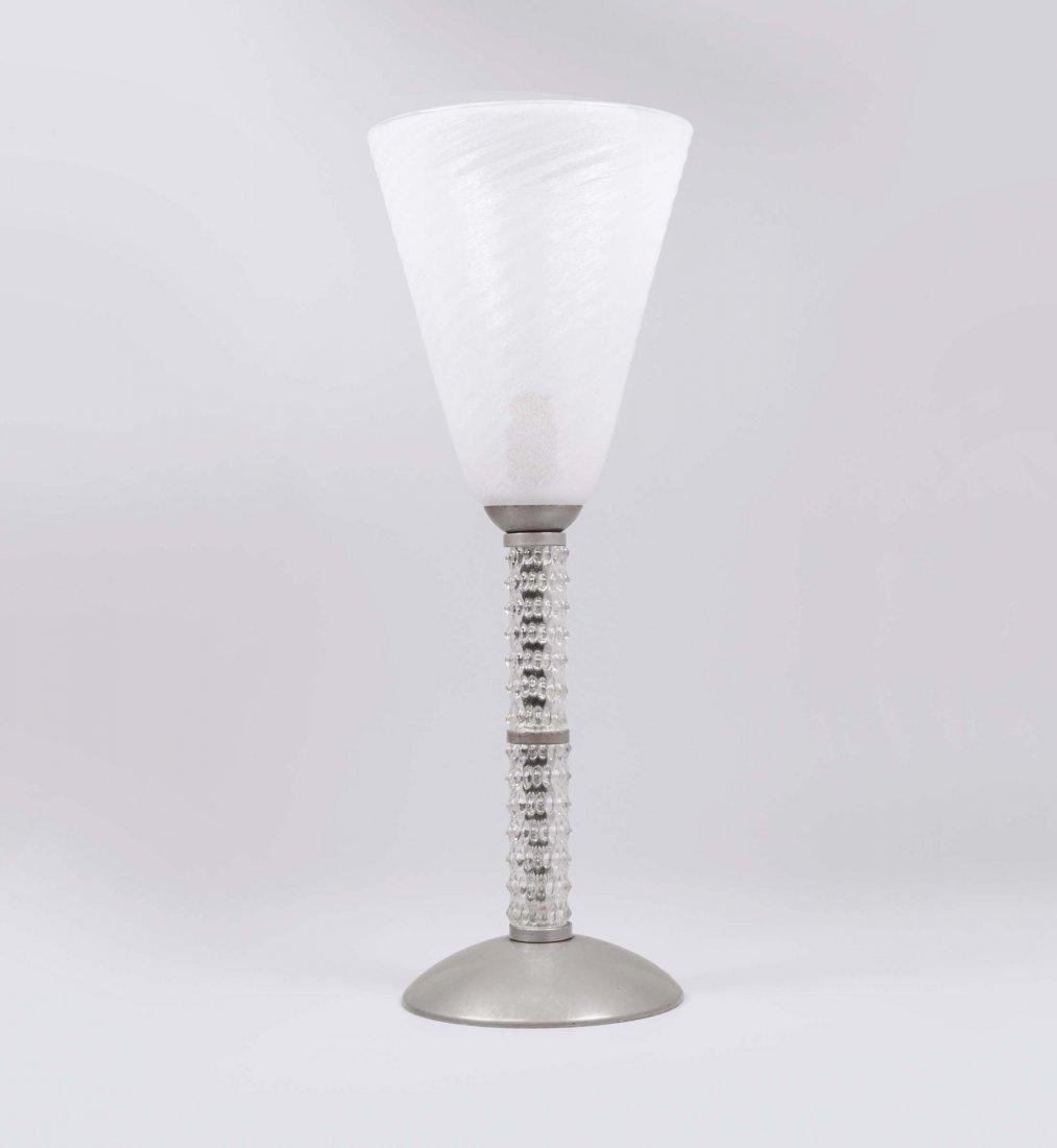 Barovier e Toso. Lampada da tavolo in vetro di Murano.