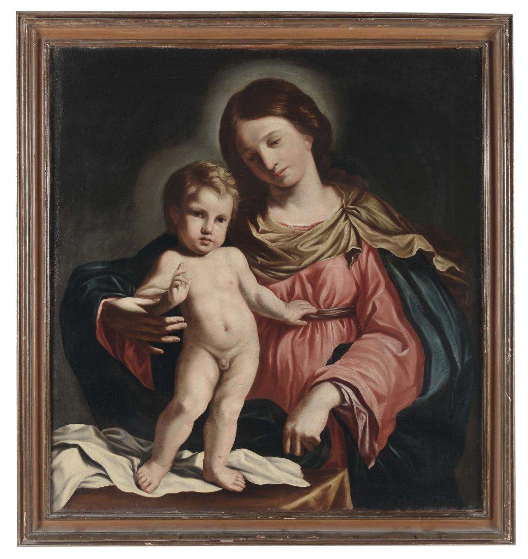 """Cesare Gennari (1637-1688), attribuito a """"Madonna con"""