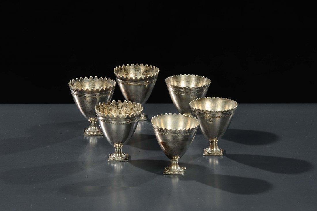 Sei bicchierini in argento, Arte Ottomana del XIX
