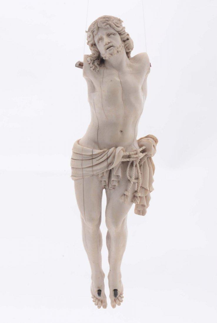 Cristo morto in avorio senza braccia, XVIII secolo