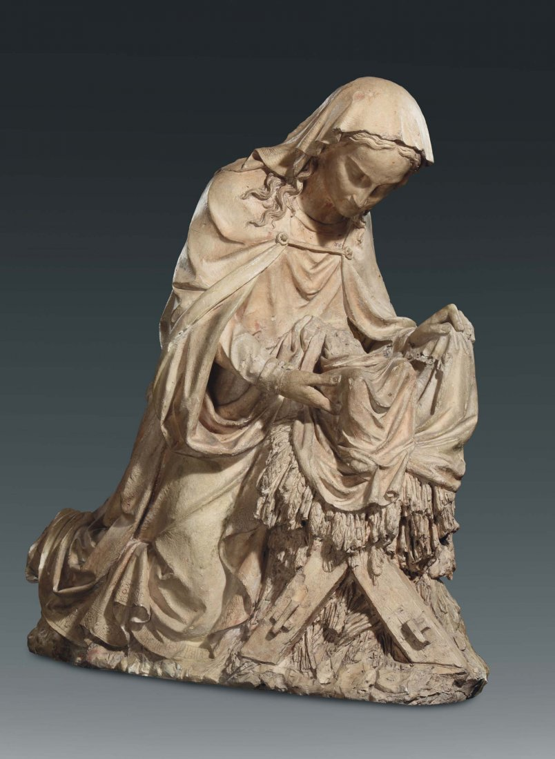 An earthenware Madonna with Child, central/southern