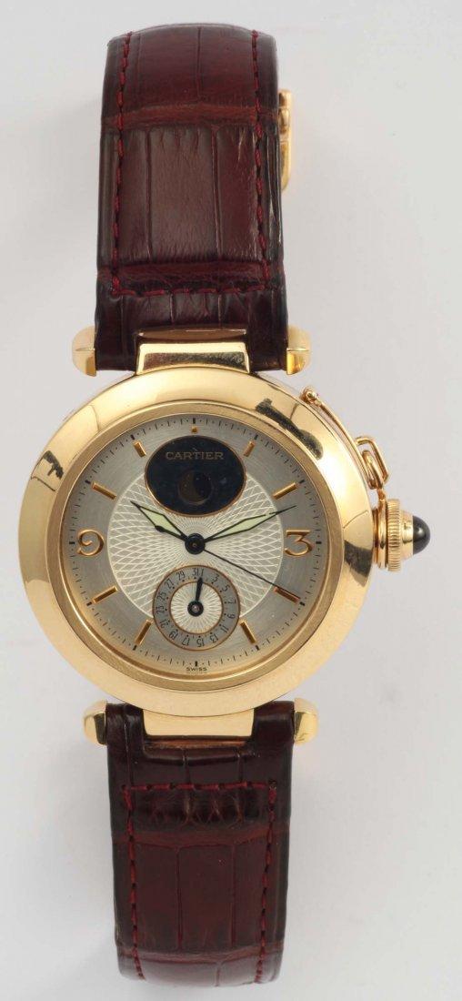 Cartier Pasha , orologio da polso per uomo in oro