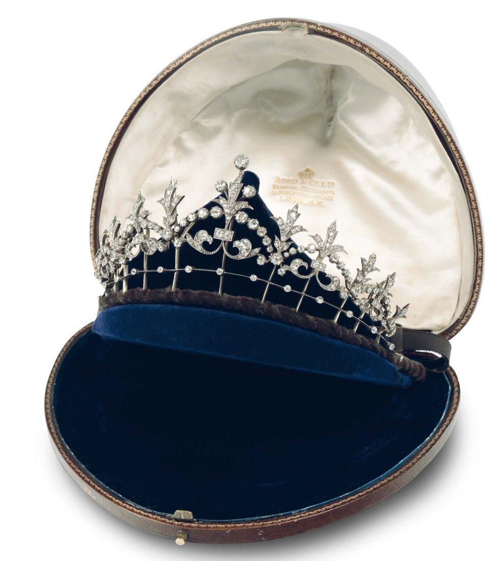 A Victorian diamond tiara/necklace