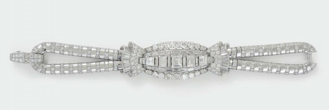 Van Cleef & Arpels N.Y. 2590. Diamond and platinum