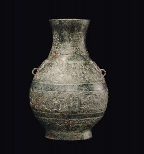 A Bronze Vase With Stylized Carving, China, 20th